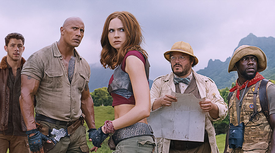 Watch a new vignette featuring the cast of Jumanji: Welcome to the Jungle!