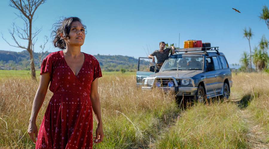 Check out the first look image for Top End Wedding - starring Darwin's own Miranda Tapsell!
