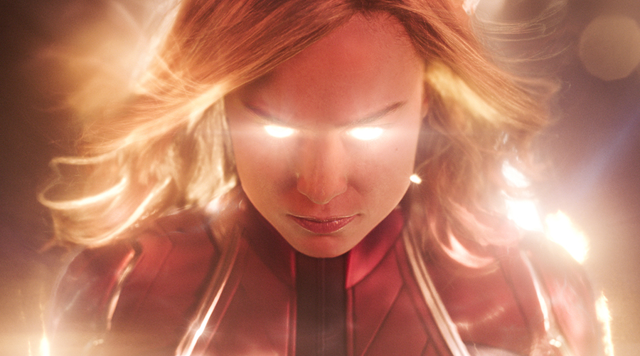 Check out this awesome Super Bowl spot for Captain Marvel showing Carol Danvers going higher, further, faster!