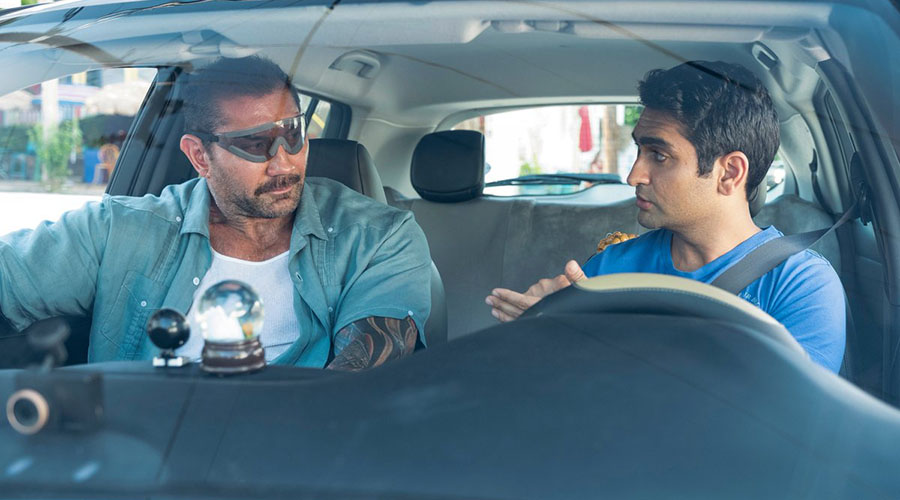 Watch the new trailer for Stuber starring Dave Bautista!