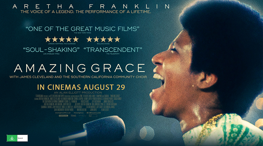 Win a double pass to Amazing Grace - Aretha Franklin's never-before-seen music documentary!