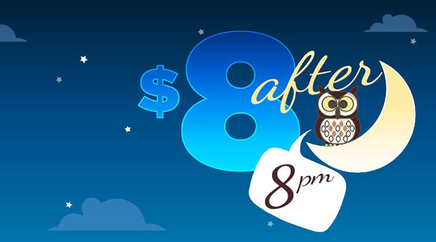 $8 after 8pm at Dendy Coorparoo!