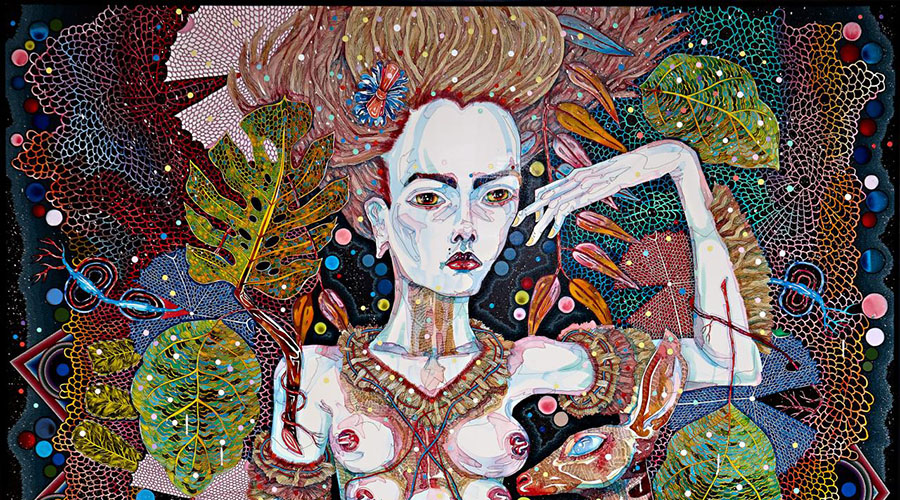 Del Kathryn Barton The Highway is a Disco Exhibition at NGV