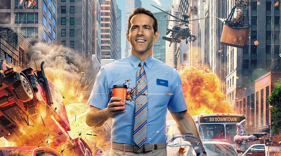 Watch the trailer for Free Guy starring Ryan Reynolds!
